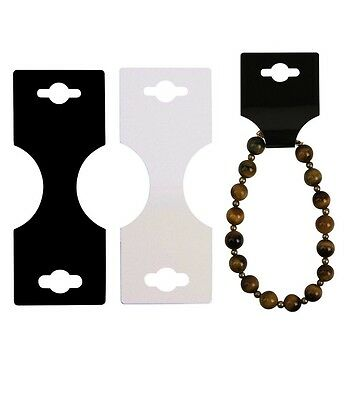 Necklace Foldover Jewelry Tag Display Card - Small Foldable Tag - Black - 100 Pc