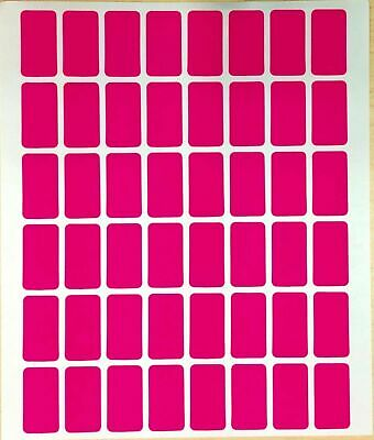 Easy Peel OFF Self Adhesive Pink Label Tags Price Stickers - 960 PCS