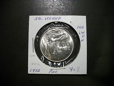 Korea-South 1975 100 Won unc foreign coin