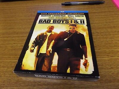 Bad Boys I & II - 20th Anniversary Collection (Blu-ray, 2015) NICE!