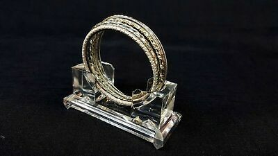 Lot of 2 Top Quality Acrylic Bangle Display Stand Easel - New