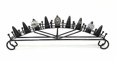 Black Metal 9 Finger Ring Display Stand Very Sturdy Business and Home ***NEW***