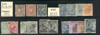 RC_8_170. ITALIA. Lot of Early Kingdom used commemorative stamps.