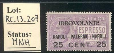 RC_13_207 KINGDOM. 1917 3rd world & 2nd Italy air mail stamp. MNH