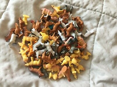 miniature plastic farm animals lot of 101 bonus 5 non-farm animals total 106