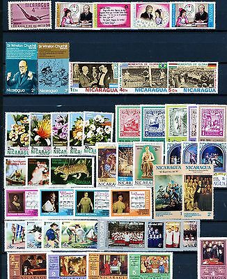 Nicaragua 48 Different MNH Stamps Mostly from Mid 1970's See Listing for Scott's