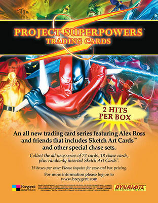 Project Superpowers Sealed Collector Cards Trading Card Box