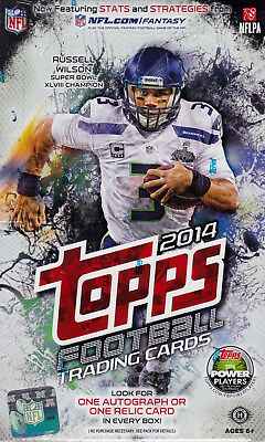 2014 Topps Football sealed hobby box 36 packs of 10 NFL cards 1 auto OR 1 relic