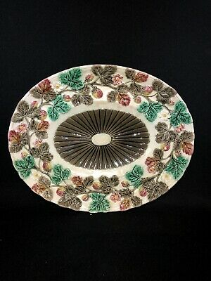 "13 1/4"" Wedgwood Majolica Strawberry Platter"