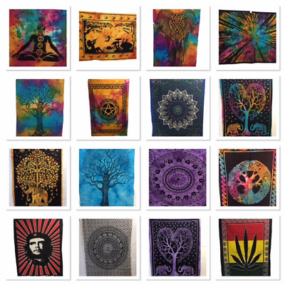 Indian Tapestry Wall Hanging Mandala Hippy Poster Size Bohemian Cover Throw New