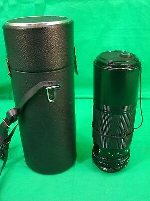 Canon Zoom Lens FD 100-200mm, 1:5.6 Excellent Condition w/Case and Both Caps