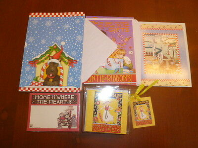 Lot Of Mary Engelbreit Cards & Scotty  Christmas Journal Gift Tags