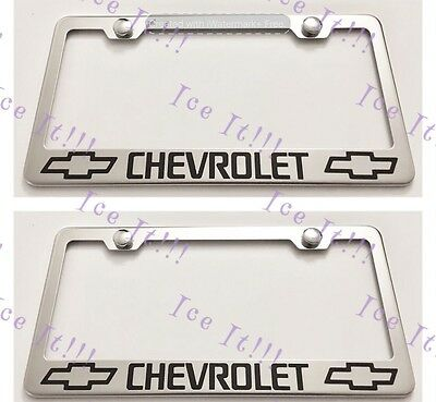 Equinox Stainless Steel License Plate Frame Rust Free W// Bolt Caps