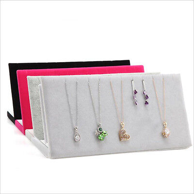 IT- Earring Necklace Pendant Velvet Jewelry Display Stand Holder Show Props Prec