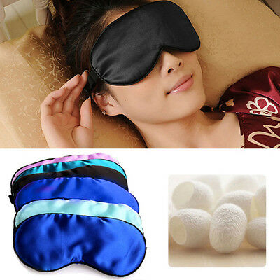 IT- 1PC Silk Sleep Eye Mask Padded Shade Cover Travel Relax Aid Blindfold Seraph