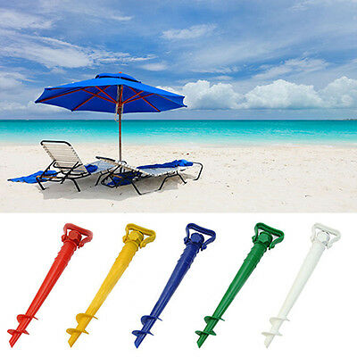 IT- Sun Beach Patio Umbrella Holder Parasol Ground Anchor Spike Fishing Stand Us