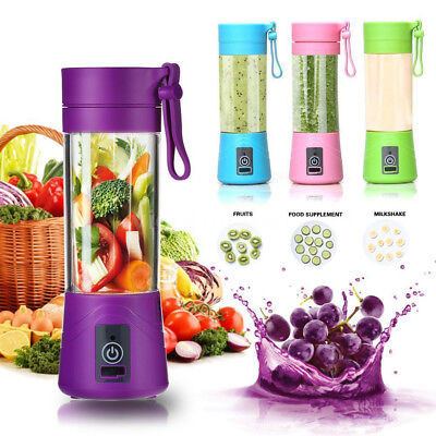 IT- Portable 380 Electric Juice Blender Bottle Juicer Cup Smoothie USB Shaker Br