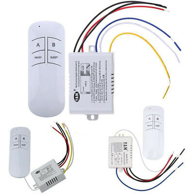 IT- 1/2/3 Way ON/OFF 220V Wireless Receiver Lamp Light Remote Control Switch Bri