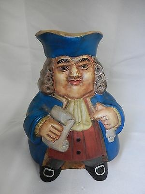 Vintage Usa Made Toby Jug, Magistrate Cornberry, Grace Apgar, Nj Stein Mug