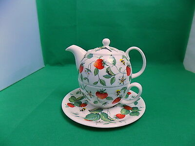 Roy Kirkham Alpine Strawberry Teapot for One