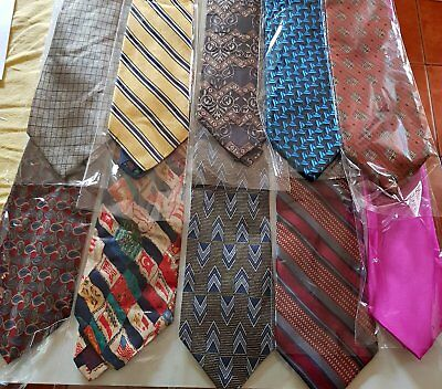 Bulk Lot x 50 Mens Fashion Ties - Mixed Brands - Imported - Free Postage - Box 3