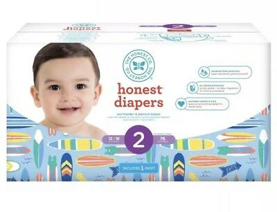 The Honest Company Surfboards Print Size 2 Disposable Diapers - 40 Count