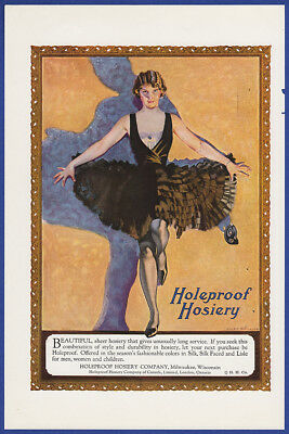 Vintage 1923 HOLEPROOF HOSIERY Women's Fashion Coles Phillips Art Print Ad 20's