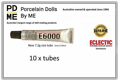 10 x tubes of E-6000 Jewellery  Adhesive 5.32ml / .18Fl.OZ