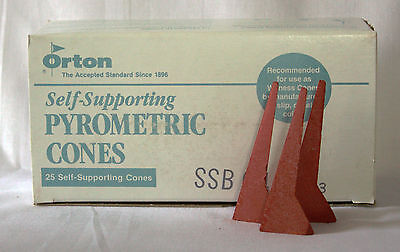 ORTON SSB6 Self Supporting Cones for Ceramic, Porcelain Kilns, etc.  Box of 25