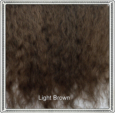 "Mohair Weft LIGHT BROWN,  3"" - 4"" X 36""   Ideal for Reborn dolls"