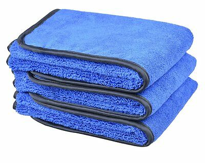 Microfiber Car Cleaning Towel Wash Buffing Drying Cloth Super Absorbent 3 Pack