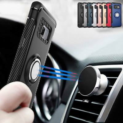 For Samsung Galaxy Note 8 Phone Case Cover Luxury Magnetic Kickstand Ring Holder