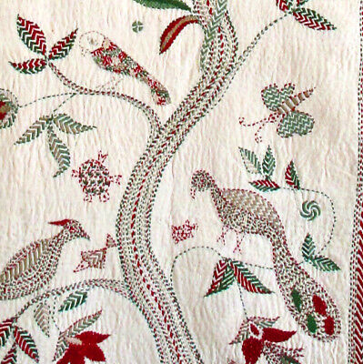 Tree of Life hand stitched wall hanging