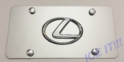 Buick Front Mirror Stainless Steel Heavy Duty 1mm License plate Frame W Bolts