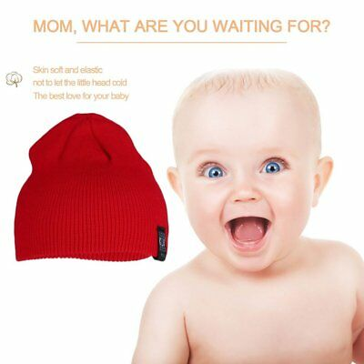 KLV Warm Unisex Solid Color Children Pinstripe Ski Plain Beanie Knitted Hat GA