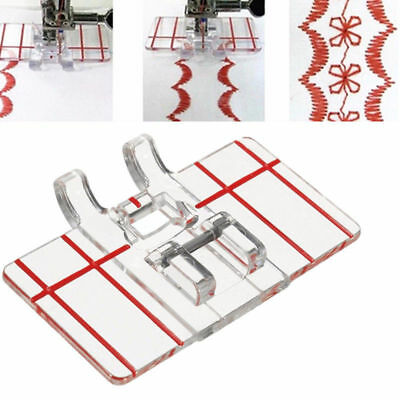 Plastic Clear Parallel Stitch Foot Presser For Home Domestic Sewing Machine