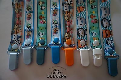 **SALE**   OCTONAUTS Handmade Dummy Clips  / Pacifier Clips / Chain
