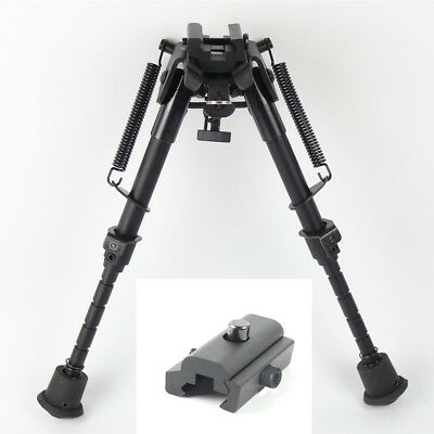 "6""- 9"" Bipod Adjustable Universal Picatinny Rail Mount Foldable for Airsoft"