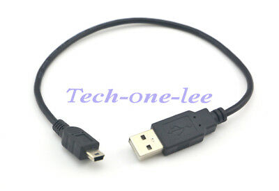 USB male to Mini 5Pin Male Data Charger Cable 30CM For Cellphone MP3 MP4 Camera