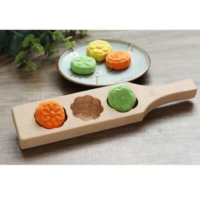 Wooden FONDANT MOLD DIY MOONCAKE COOKIE MUFFIN PASTRY MOLDING TOOL