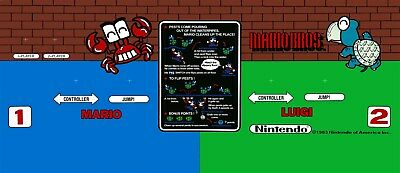 Mario Brothers Arcade Game control panel overlay