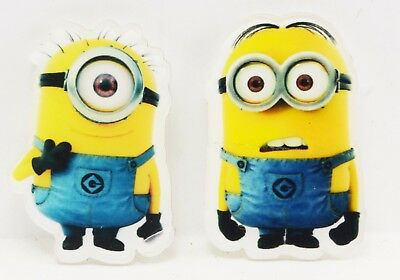 Minions Acrylic Badge 2 Piece Set Pin Button Party Movie Minion Despicable