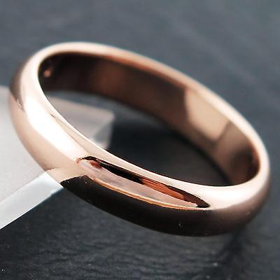 An762 Genuine Real 18K Rose G/f Gold Ladies Handcrafted Classic Band Ring N
