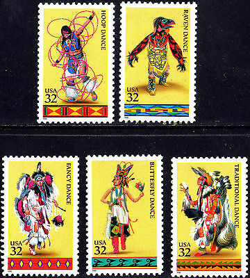 US 1996 American Indian Dances Complete Set of Stamps  MNH