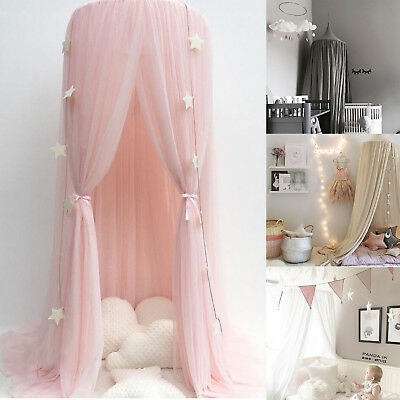 NEW Kids Baby Bed Canopy Bedcover Mosquito Net Curtain Bedding Dome Tent Cotton