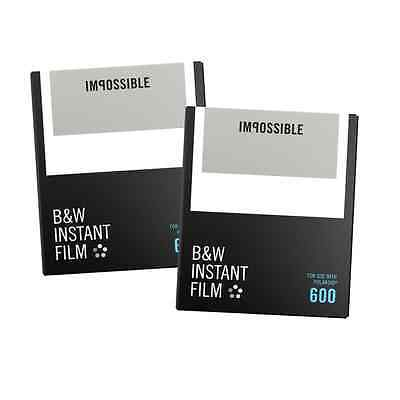 Polaroid B&W Film For 600 - Impossible Twin Pack  - Black And White