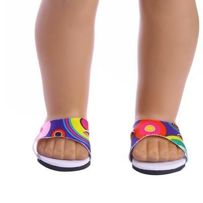 """Sandals Shoes Slippers for 18"""" American Girl Dolls Summer Clothes Dress Accs"""