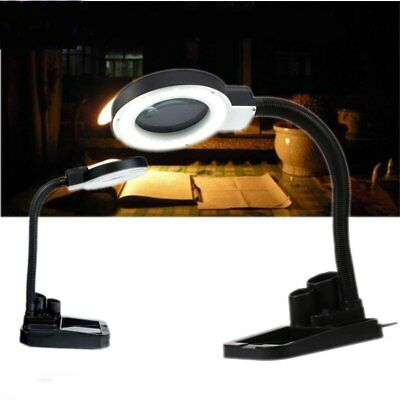 Magnifying tool crafts desk light lamp with 5x 10x for Craft light with magnifying glass