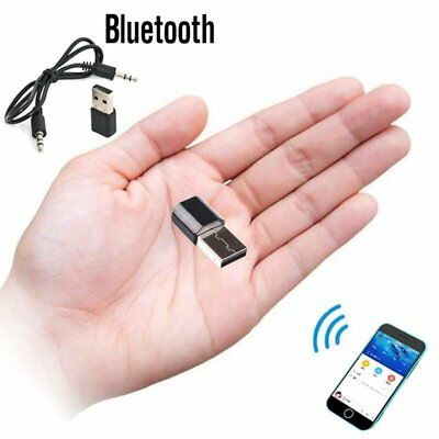 USB 3.5 mm Wireless Bluetooth Audio Stereo AUX Music Receiver Adapter Car Home