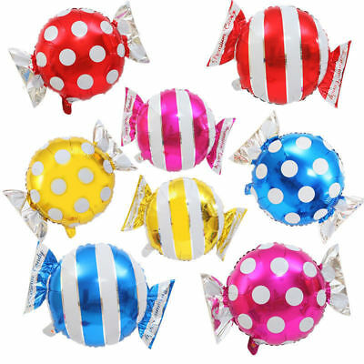 Helium Balloon Wedding Celebration Candy Stripe Foil Balloon Party Decoration J